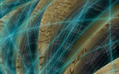 Blue fractal lines wallpaper