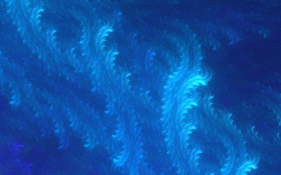 Blue fractal waves wallpaper