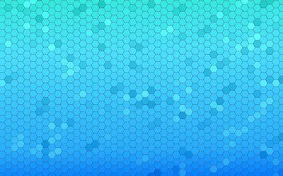 Blue honeycomb pattern wallpaper