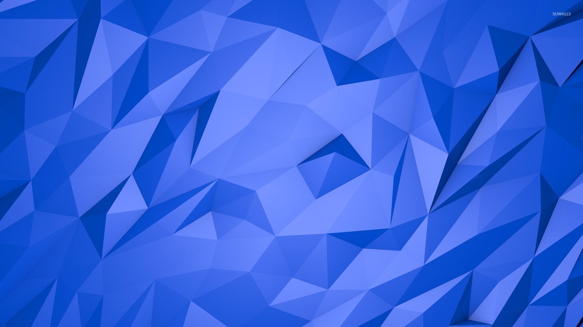 Blue Pyramids Wallpaper Abstract Wallpapers 51639