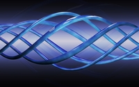 Blue spiral curves wallpaper 3840x2160 jpg