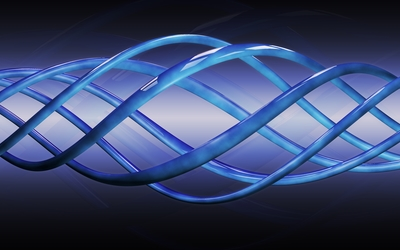 Blue spiral curves wallpaper