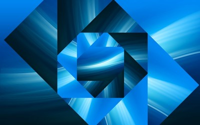 Blue square spiral wallpaper