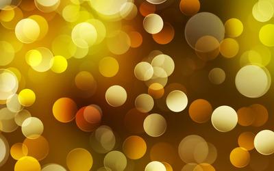 Blurry yellow circles wallpaper
