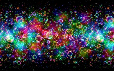 Bright colors reflected on the bubbles wallpaper