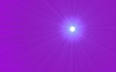 Bright light on the purple wall wallpaper