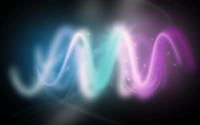 Bright waves wallpaper