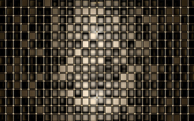 Bronze squares wallpaper