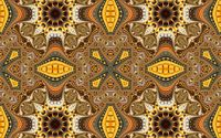 Brown and yellow fractal shapes wallpaper 1920x1200 jpg