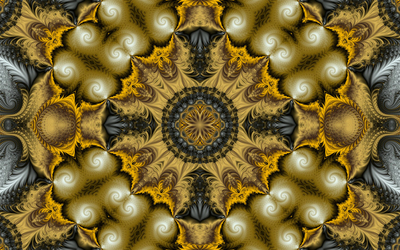 Brown fractal circles wallpaper
