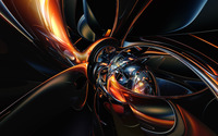 Burning metallic shapes wallpaper 1920x1200 jpg