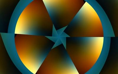 Circle slices wallpaper