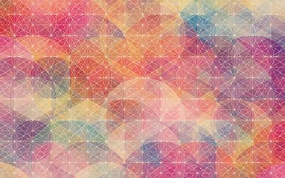 Circles and plain polygons wallpaper