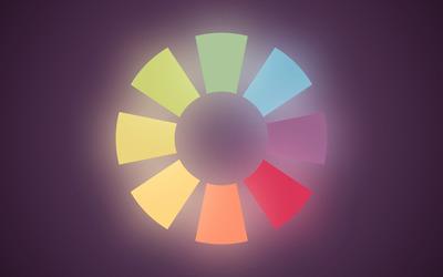 Circular shapes wallpaper