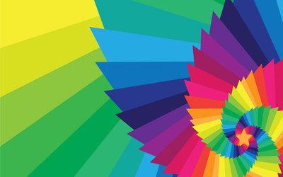 Color spiral wallpaper