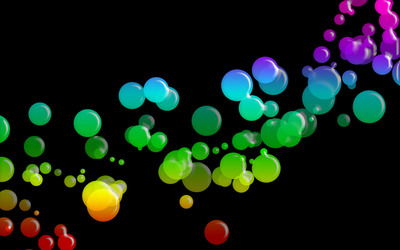 Colored bubbles wallpaper