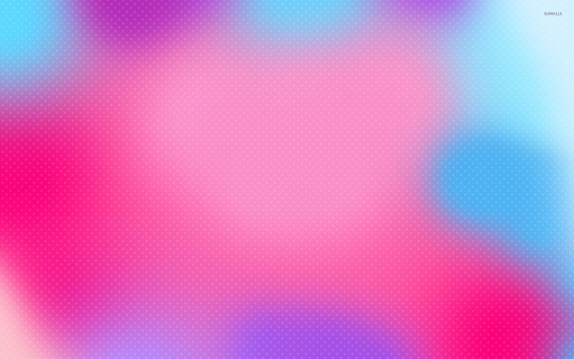 Colorful Blur On White Cross Pattern Wallpaper