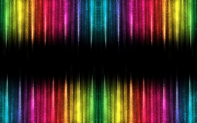 Colorful bright stripes reaching to the darkness wallpaper