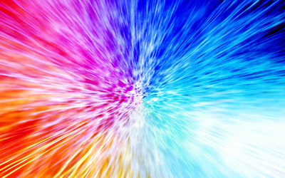 Colorful burst wallpaper