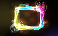 Colorful circles surrounding the glowing frame wallpaper 1920x1080 jpg