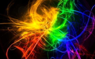 Colorful curves wallpaper