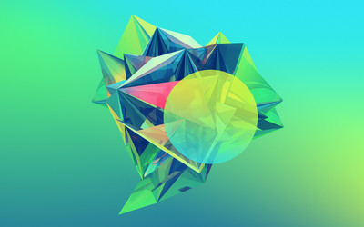 Colorful facets wallpaper
