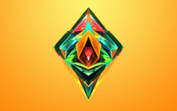 Colorful facets shining inside the diamond wallpaper 2560x1440 jpg