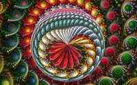 Colorful fractal swirls inside the orb wallpaper 1920x1200 jpg