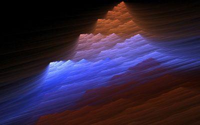 Colorful fractal waves Wallpaper