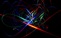 Colorful glowing curves dancing in the dark room wallpaper 1920x1200 jpg