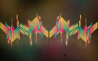 Colorful glowing shapes wallpaper 1920x1080 jpg