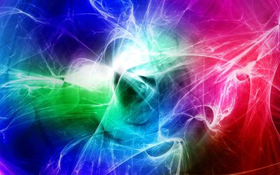 Colorful light lines wallpaper