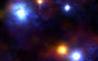 Colorful lights in space wallpaper 1920x1080 jpg