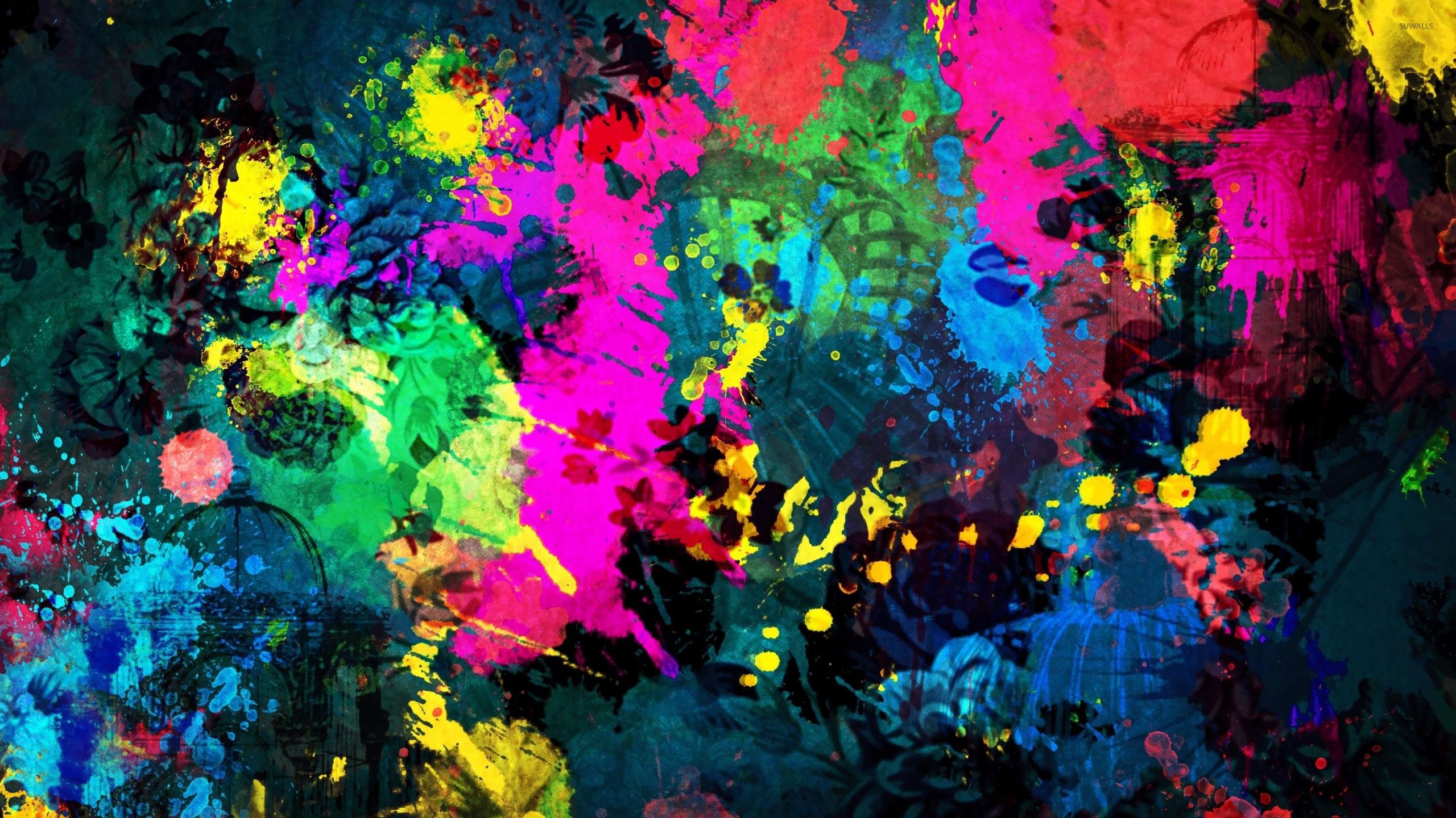 Colorful Paint Splatter Wallpaper