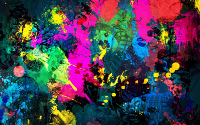Colorful paint splatter wallpaper