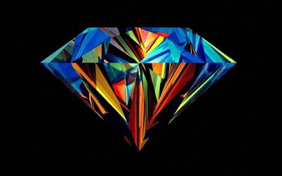 Colorful perfect diamond wallpaper