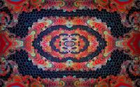 Colorful pillars on the mosaic wallpaper 2560x1440 jpg