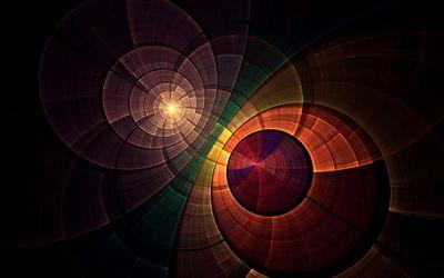 Colorful rings wallpaper