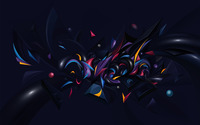 Colorful shapes on a dark background wallpaper 1920x1200 jpg
