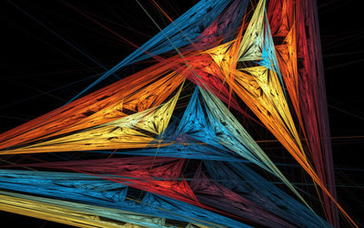 Colorful sharp lines Wallpaper