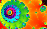 Colorful spiral fractal wallpaper 1920x1080 jpg