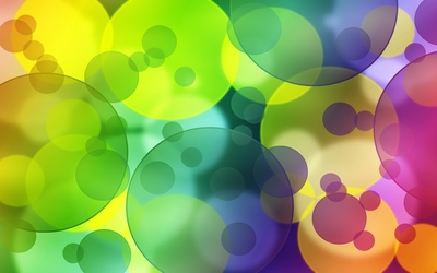 Colorful transparent bubbles wallpaper