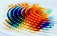 Colorful water rings wallpaper 1920x1200 jpg