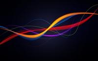 Colorful waves floating in the dark space wallpaper 2560x1600 jpg