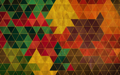 Colors on the triangle pattern wallpaper