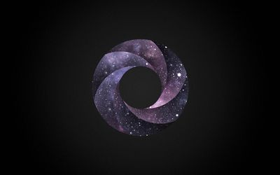 Cosmic swirl on the dark background wallpaper