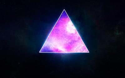 Cosmic triangle wallpaper