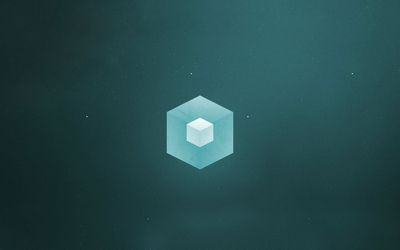 Cube in a hexagon wallpaper