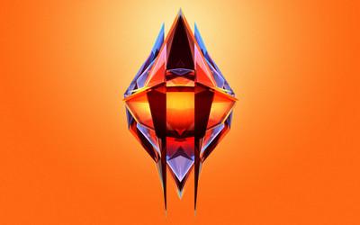 Diamond with thorns wallpaper