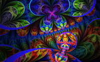 Floral fractal wallpaper 2560x1600 jpg